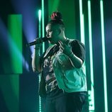 Eli Rosex cantando durante la gala 11 de 'OT 2020'