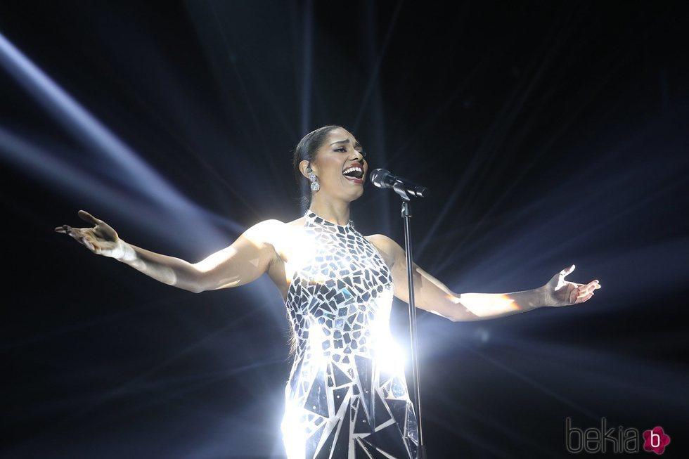 Nía cantando 'Halo' en la gala 11 de 'OT 2020'