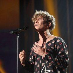 Nick Maylo cantando durante la gala 11 de 'OT 2020'