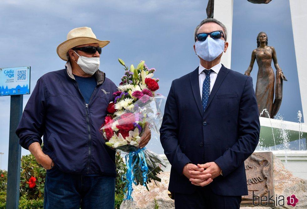 José Ortega Cano y Amador Mohedano en el homenaje a Rocío Jurado 14 años después de su muerte