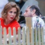 Ágatha Ruiz de la Prada y Luis Gasset, juntos en una terraza de Madrid