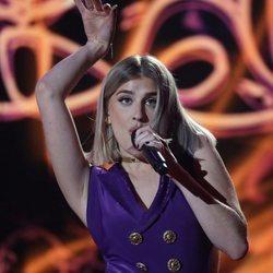 Samantha actuando en la gala 12 de 'OT 2020'