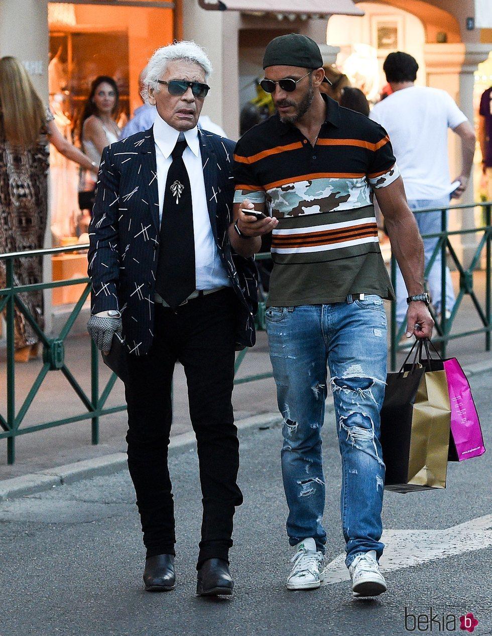 Karl Lagerfeld y Sébastien Jondeau