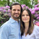 Carlos Felipe de Suecia y Sofia Hellqvist en el Día Nacional de Suecia 2020