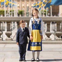Estela y Oscar de Suecia en el Día Nacional de Suecia 2020
