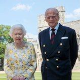 La Reina Isabel y el Duque de Edimburgo en Windsor Castle durante el confinamiento