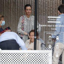 Victoria Federica y la Infanta Margarita en un almuerzo en Madrid