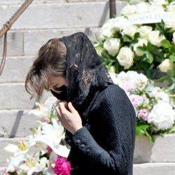 Carlota Casiraghi en el funeral de Elizabeth Anne de Massy