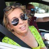 Carmen Borrego llegando a la celebración del 79 cumpleaños de María Teresa Campos