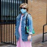 Mila Ximénez a las puertas de un restaurante tras contar que padece cáncer