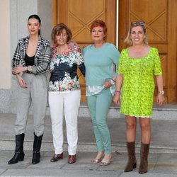 Alejandra Rubio, María Teresa Campos, Terelu Campos y Carmen Borrego posan juntas por el 79 cumpleaños de la presentadora