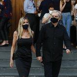 Ramón García y Patricia Cerezo en el funeral de Álex Lequio Obregón en Madrid