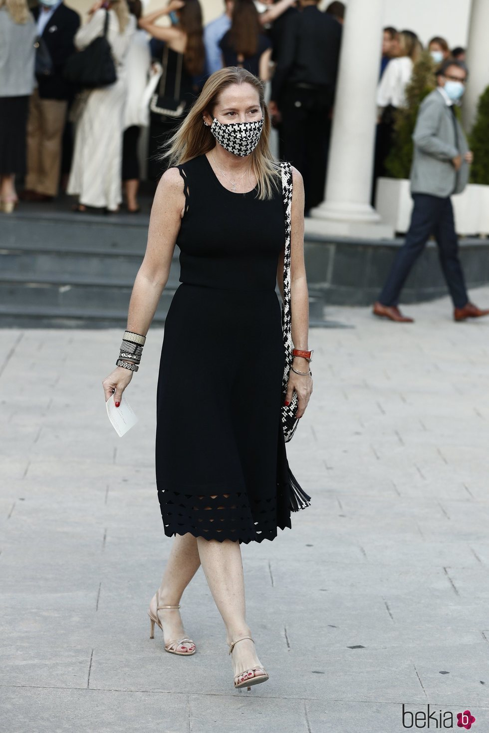 Fiona Ferrer en el funeral de Álex Lequio Obregón en Madrid