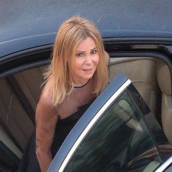 Ana Obregón a su llegada al funeral de su hijo Álex Lequio en Madrid