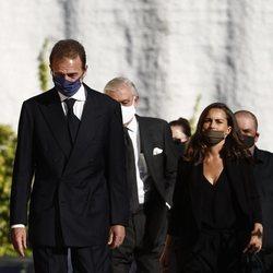 Alessandro Lequio y María Palacios en el funeral de Álex Lequio