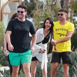 Alejandra Rubio, Tassio de la Vega y amigos de vacaciones en Ibiza