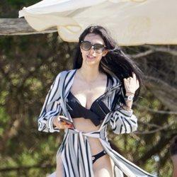 Alejandra Rubio disfrutando de un día de playa en Ibiza