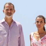 Los Reyes Felipe VI y Letizia durante su visita a Benidorm