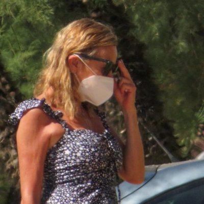 Ana Obregón en su llegada a Mallorca