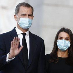 Los Reyes Felipe y Letizia en el funeral por las víctimas del coronavirus