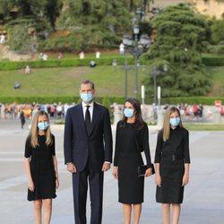 Los Reyes Felipe y Letizia, la Princesa Leonor y la Infanta Sofía en el funeral por las víctimas del coronavirus