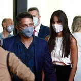 Alejandro Sanz en un homenaje en Madrid con Rachel Valdés