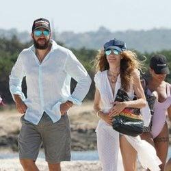 Borja Thyssen y Blanca Cuesta en Formentera durante unas vacaciones