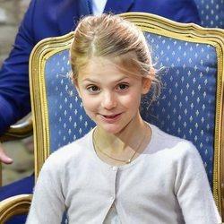 Estela de Suecia en el 43 cumpleaños de Victoria de Suecia