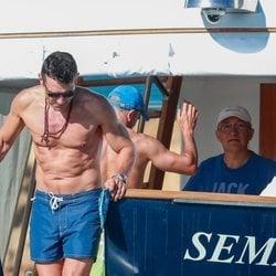 Jesús Vázquez en un barco en Formentera