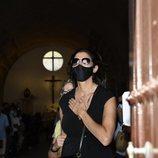 Paz Padilla en el entierro de su marido, Juan Vidal