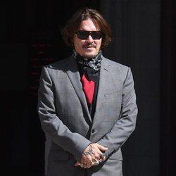 Johnny Depp en una nueva jornada de juicio contra Amber Heard