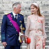 El Rey Felipe de Bélgica y la Princesa Isabel el Día Nacional de Bélgica 2020