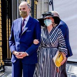 Los Príncipes Astrid y Lorenzo de Bélgica en el Día Nacional de Bélgica 2020
