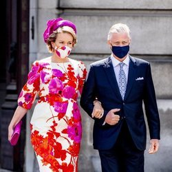 Los Reyes Felipe y Matilde en el desfile del Día Nacional de Bélgica 2020