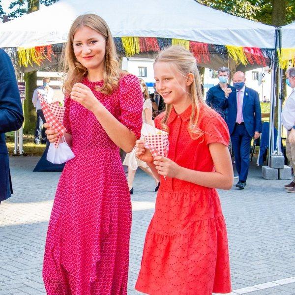 La Familia Real Belga celebrando el Día Nacional de Bélgica 2020