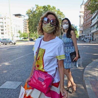 Ágatha Ruiz de la Prada haciendo recados por Madrid