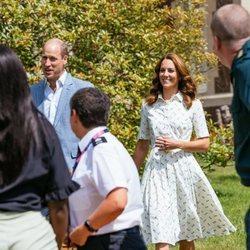 Los Duques de Cambridge con representantes de organizaciones benéficas de la salud mental