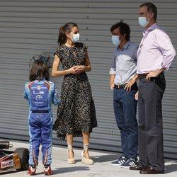 Los Reyes Felipe y Letizia con Fernando Alonso en el Museo y Circuito Fernando Alonso en Asturias