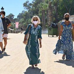 Eugenia Martínez de Irujo, Tana Rivera, su novio y Narcís Rebollo de vacaciones en Marbella