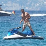 Joaquín Prat en moto de agua en Formentera