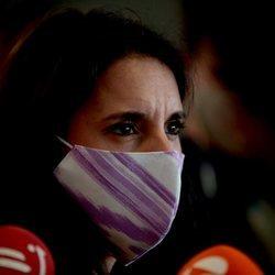Irene Montero comparece ante los medios