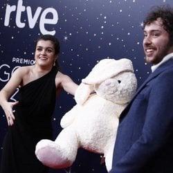 Amaia Romero y Álex de Lucas en los Premios Goya 2020