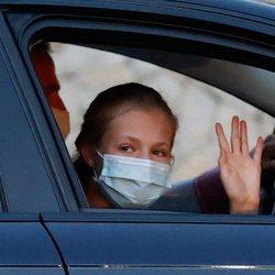 La Princesa Leonor llegando a Marivent para las vacaciones de la Familia Real en Mallorca
