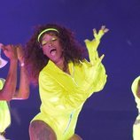 Keke Palmer durante su actuación en los MTV VMA's 2020