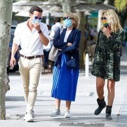 Antonio Rossi, Mila Ximénez y Belén Rodríguez, de paseo por Madrid