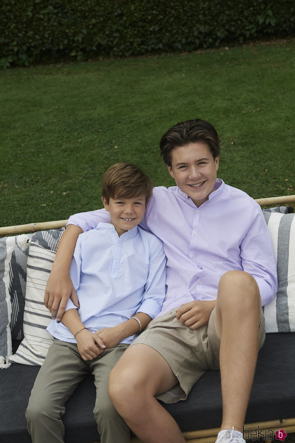 Christian y Vicente de Dinamarca al final de sus vacaciones