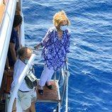 La Reina Sofía en la liberación de una tortuga en Mallorca
