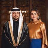 Rania de Jordania con su hijo el Príncipe Hussein
