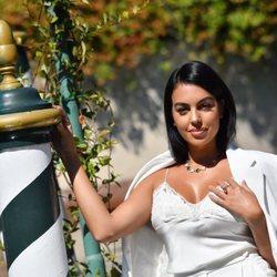 Georgina Rodríguez en su llegada el Festival de Venecia 2020
