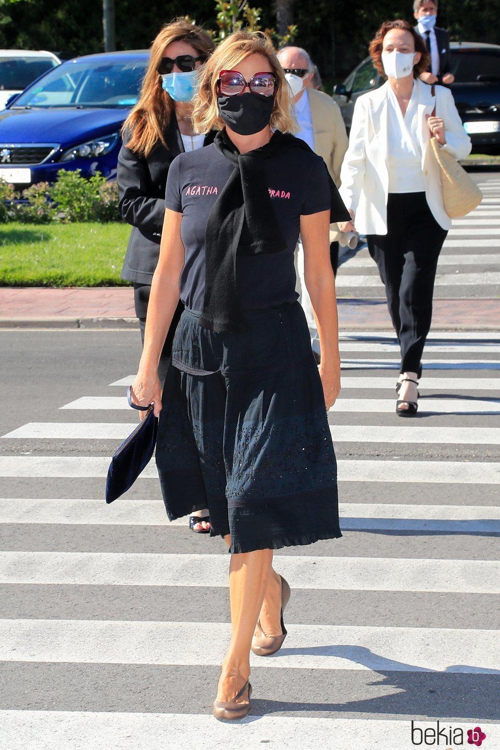 Ágatha Ruiz de la Prada en el funeral de Jaime Carvajal